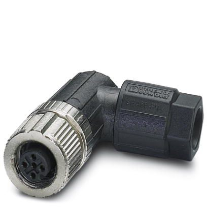 Phoenix Contact - Angled connector - M12, 4-pole, Push-in