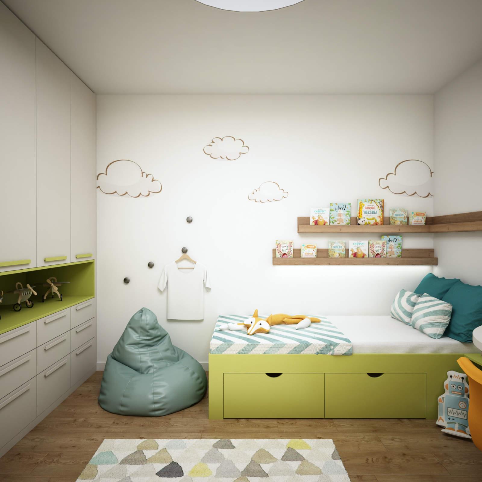 5b88f09bd426 Jednoduchý a hravý návrh detskej izby pre chlapca. Ak chcete oživiť steny v detskej  izbe