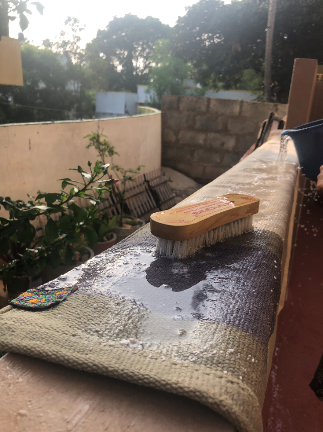 Maintenance and washing instructions for your Leela Mysore yoga rug