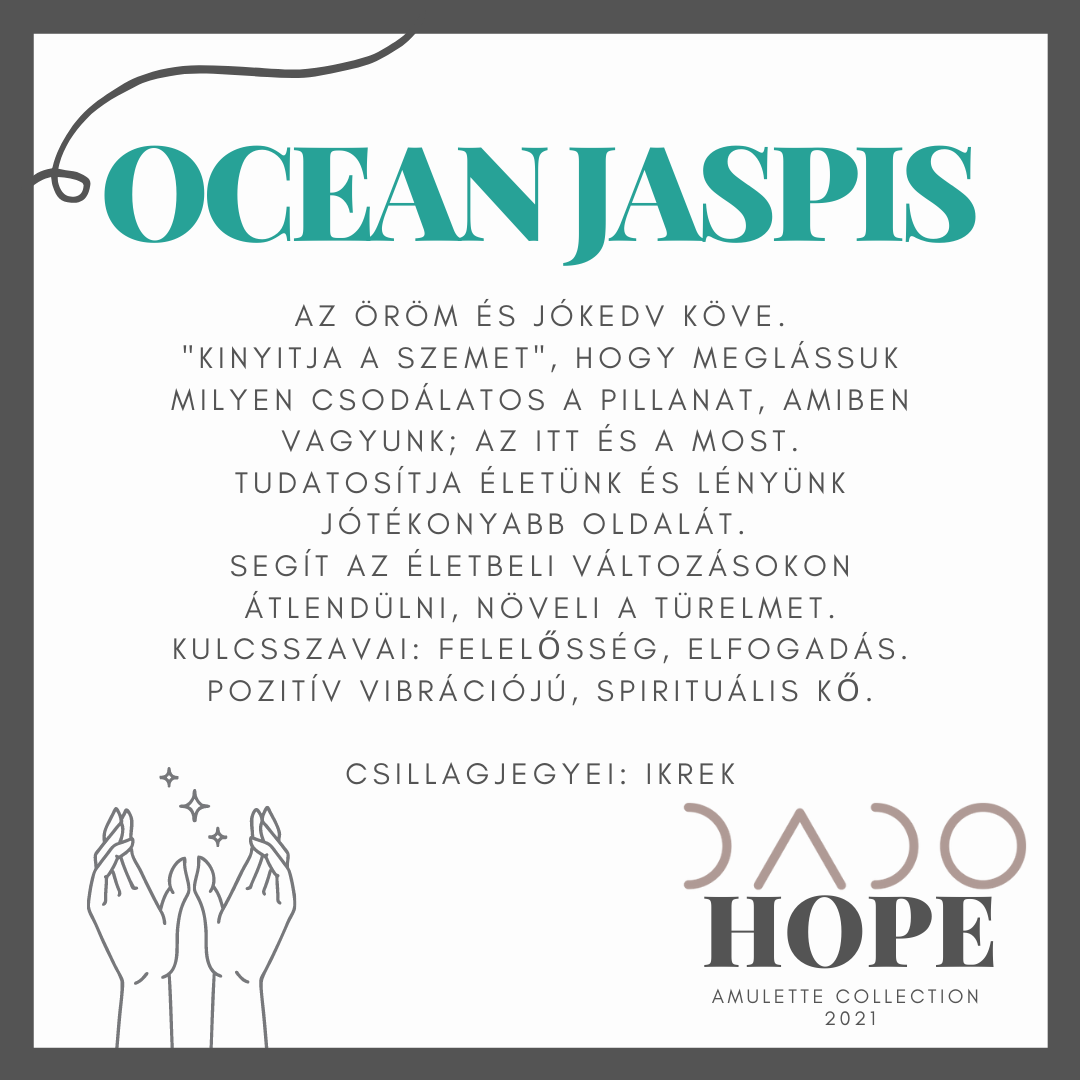 HOPE * FOR MEN - OCEAN JASPIS