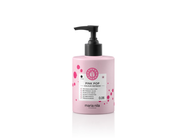 Maria Nila - farebná maska - Colour Refresh 300 ml, Pink Pop 0.06