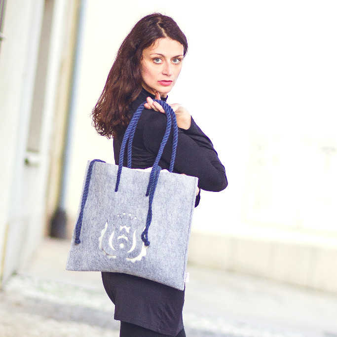 Grey Vegan Bag