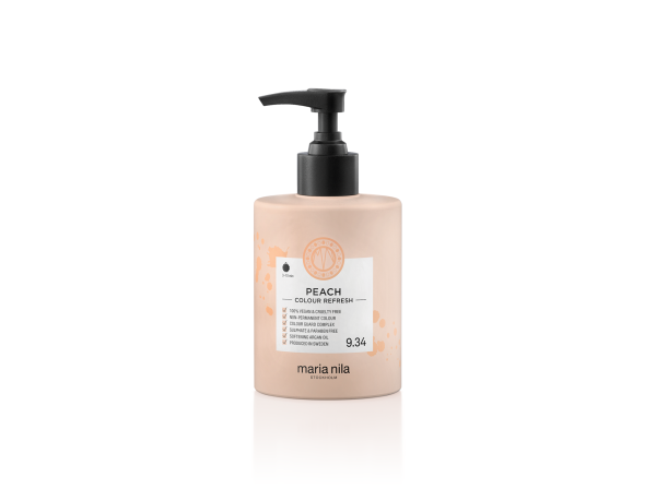 Maria Nila - farebná maska - Colour Refresh 300 ml, Peach 9.34