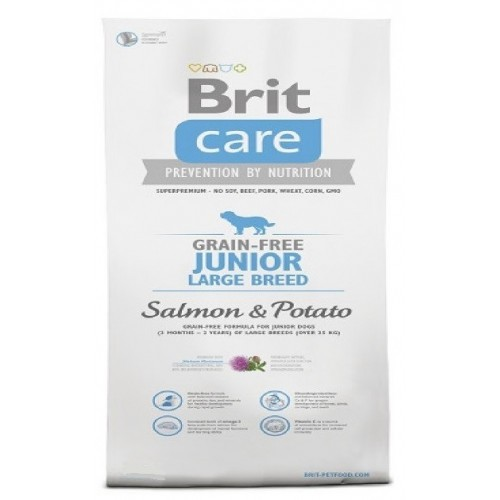 Brit care 3,0kg Junior LB grain free salmon potato