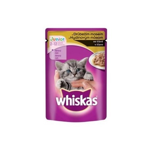 Whiskas 100g kapsička junior hydina