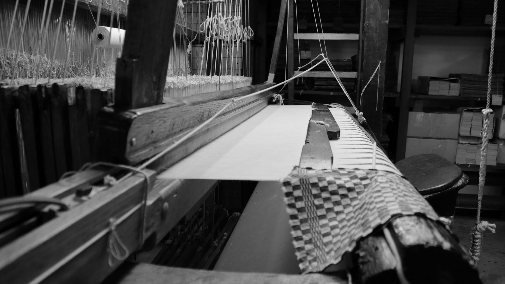 Process of weaving Leela yoga rugs