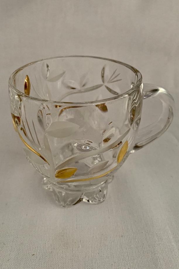 Šalky na kavu 2 kusa Cups for coffee CRYSTAL SLOVENSKO