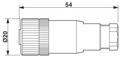 Phoenix Contact - Connector - M12, 4-pole, Screw connection