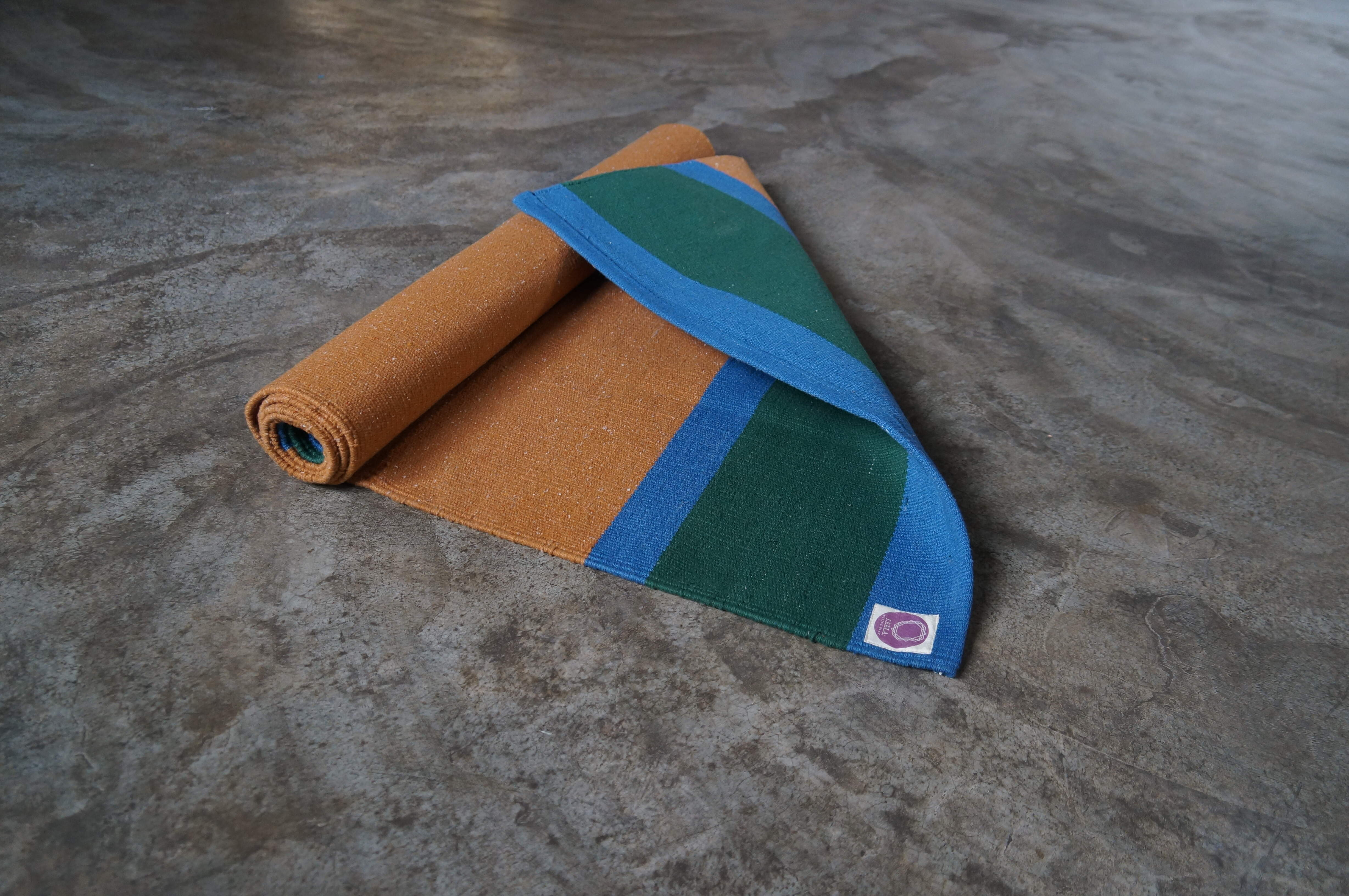 Yellow & Green Traditional Mysore Leela Yoga rug