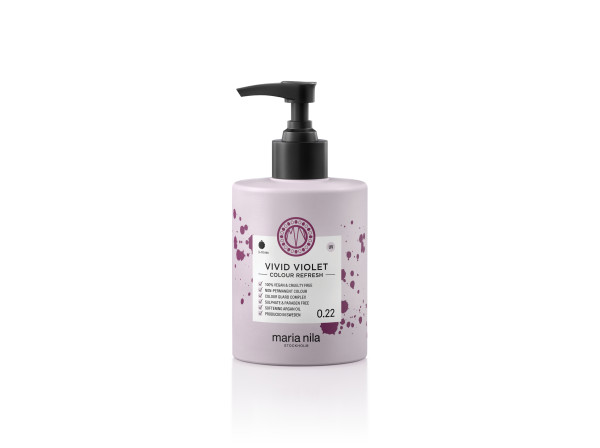 Maria Nila - farebná maska - Colour Refresh 300 ml, Vivid Violet 0.22