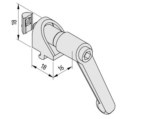 Angle Clamp Bracket 5 with Clamp Lever