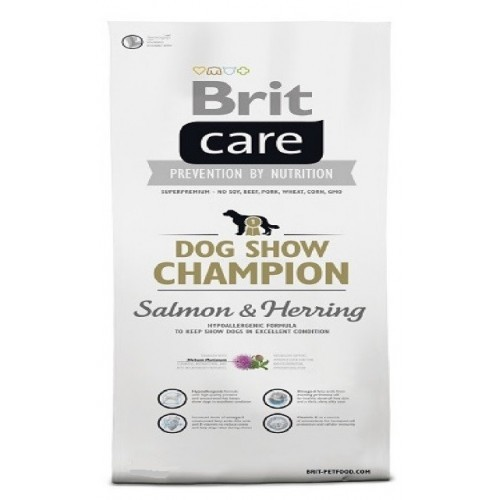Brit care 1,0kg Adult show Champion Salmon+Herring