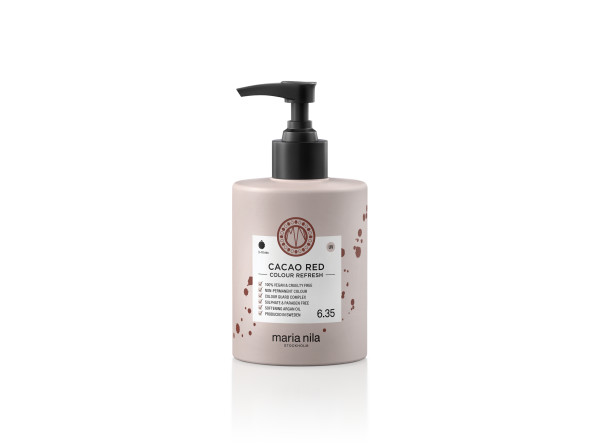 Maria Nila - farebná maska - Colour Refresh 300 ml, Cacao Red 6.35