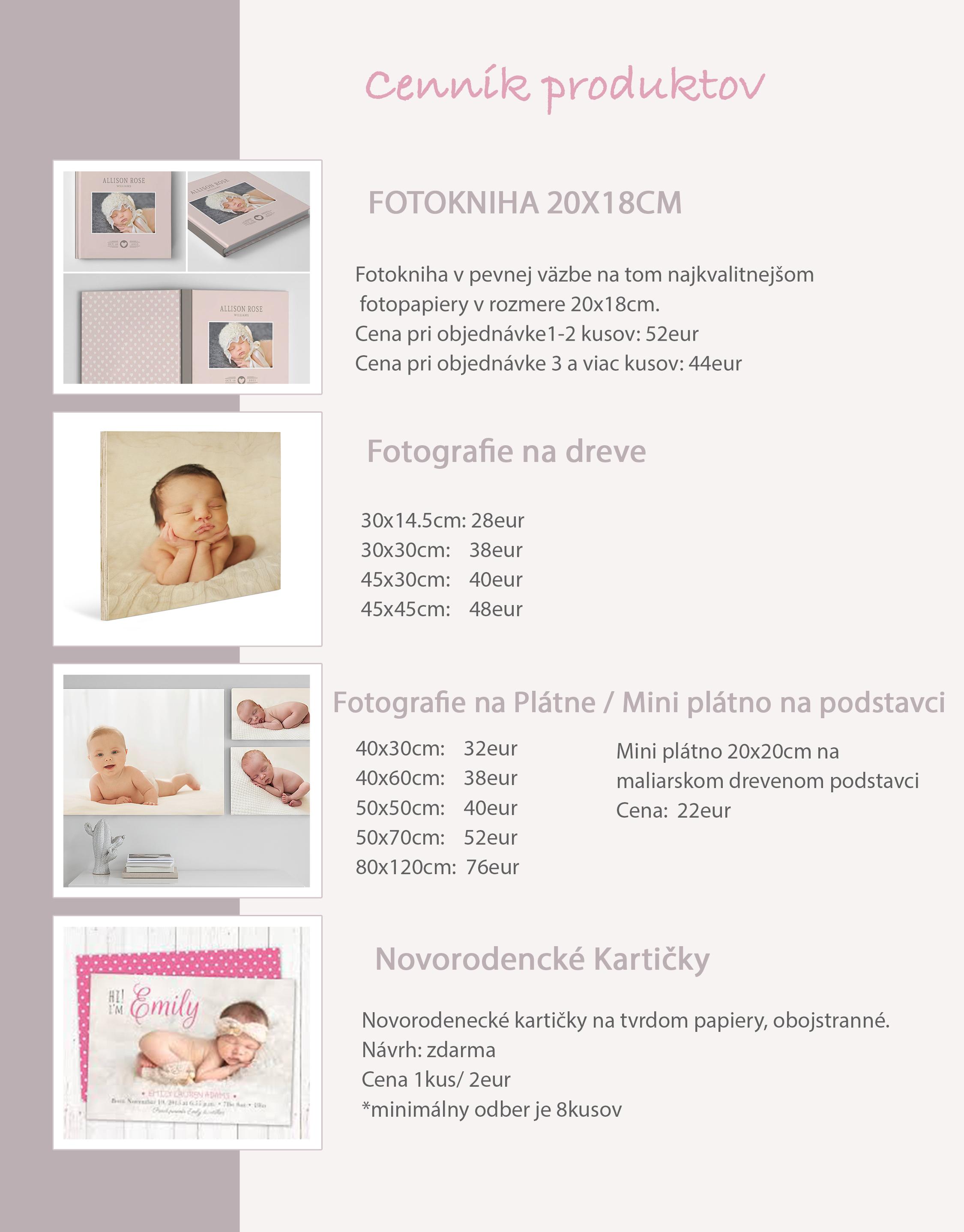 Katarína Hall Photography - produkty