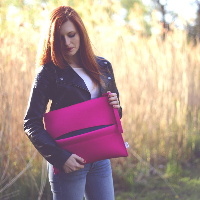 Big Pink Clutch Bag