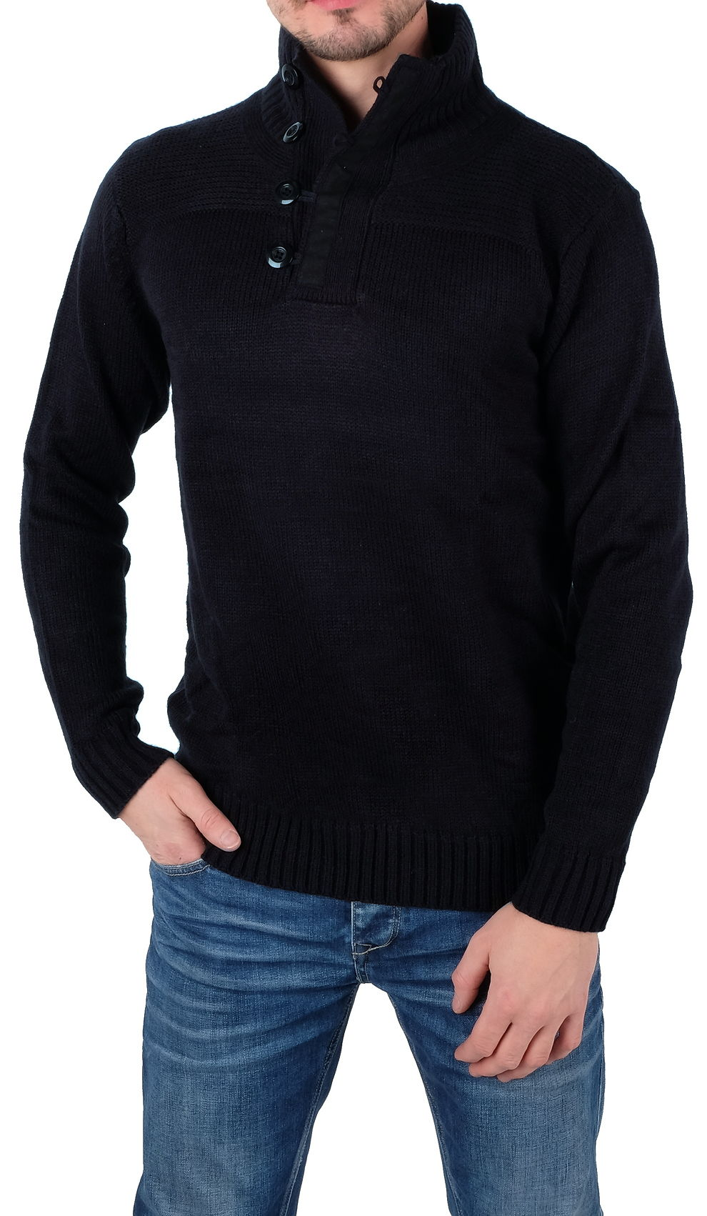 Mens´ fashion pullover Five Wolfs