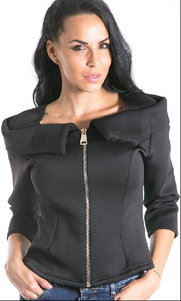Womens´ jacket with zipper