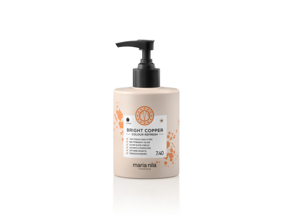Maria Nila - farebná maska - Colour Refresh 300 ml, Bright Copper 7.40
