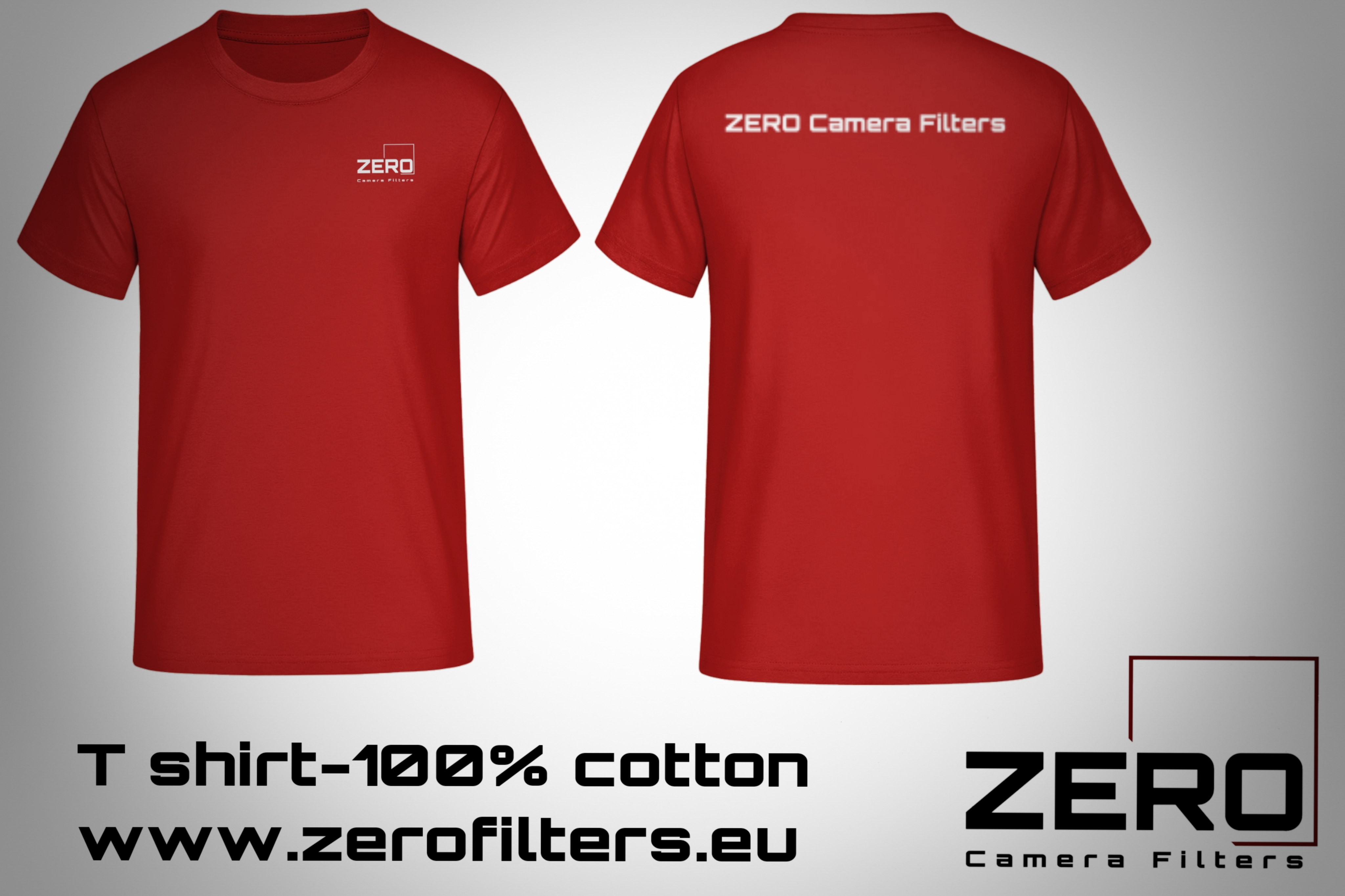 T-shirt ZERO Camera Filters - Red