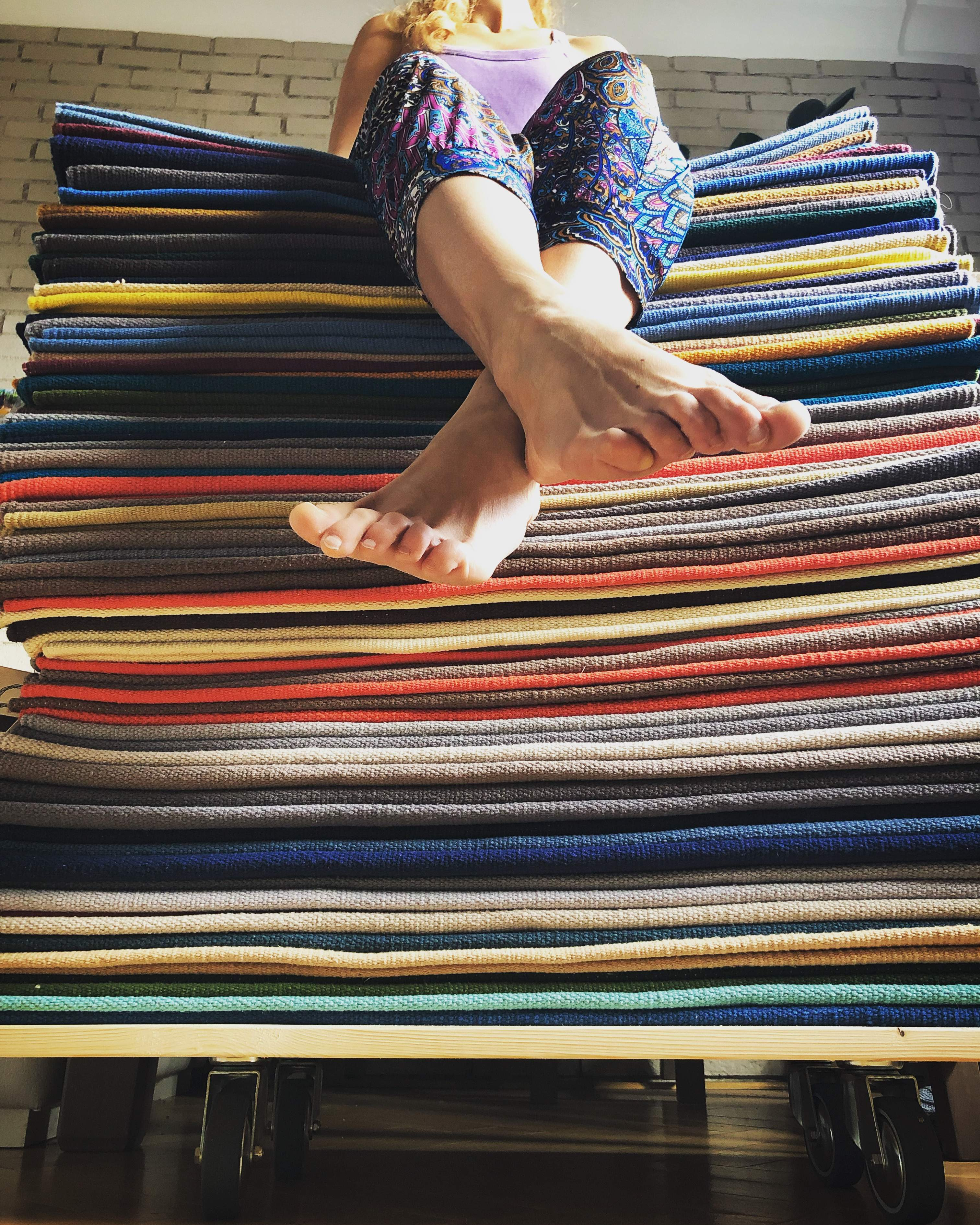 Colorful cotton yoga rugs