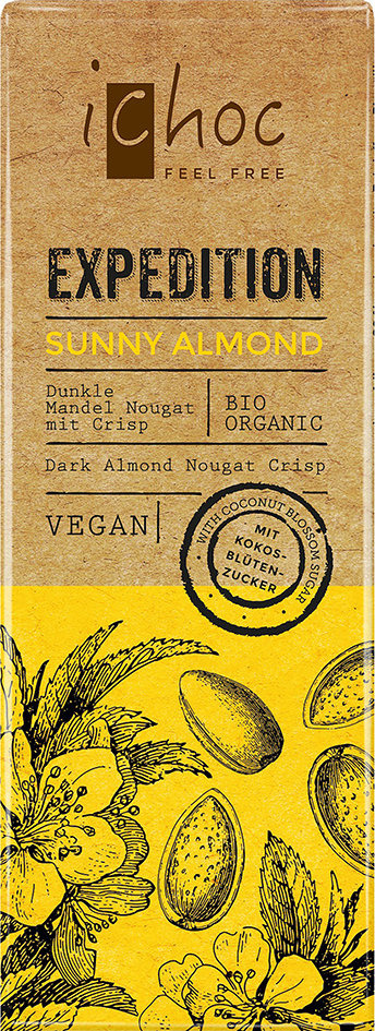 Sunny Almond Expedition iChoc 50 g Vegan