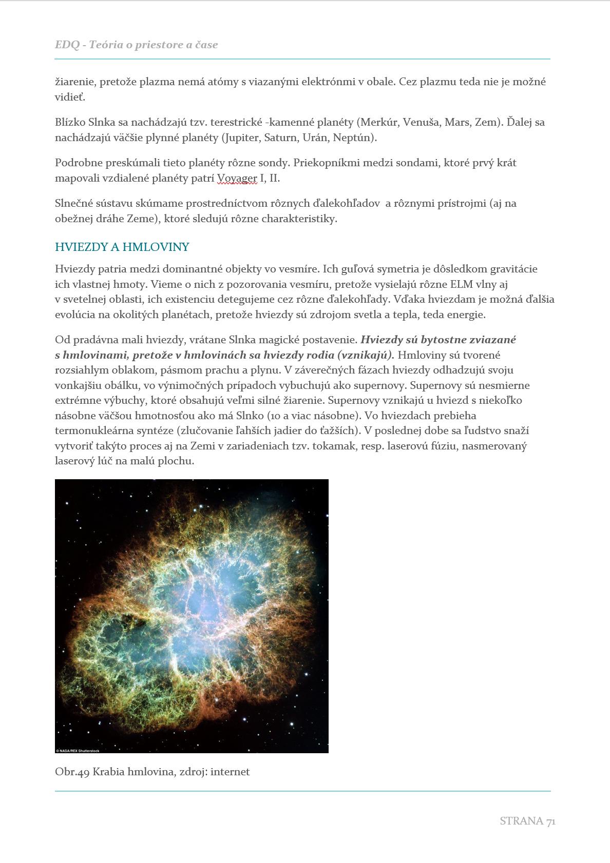 datovania vesmíru