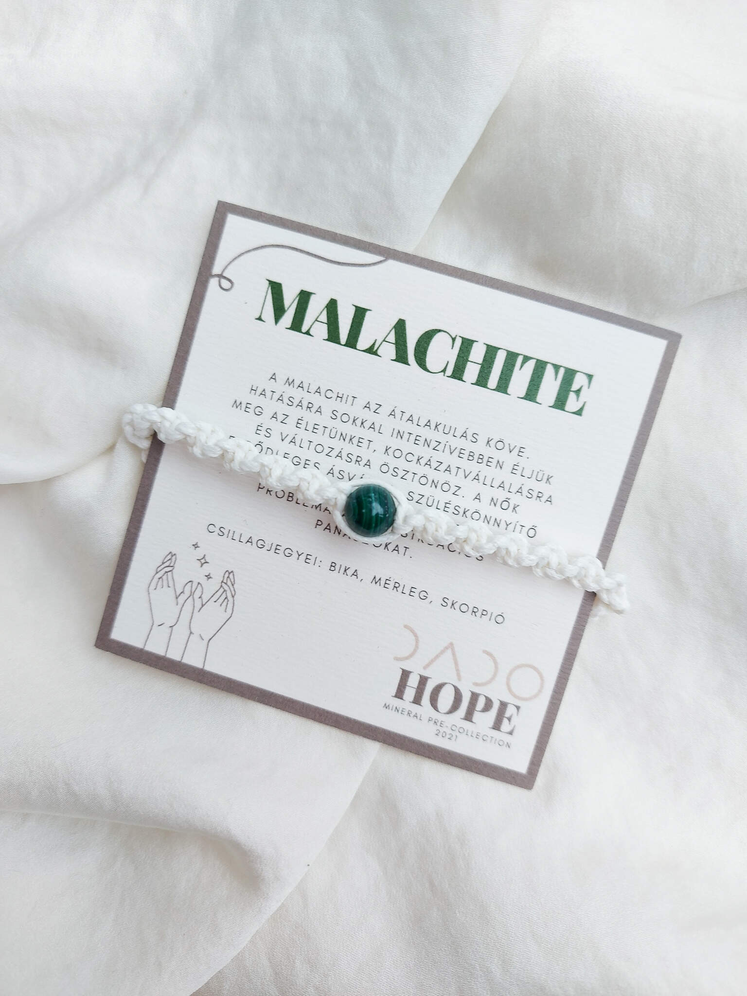 HOPE * MALACHITE karkötő