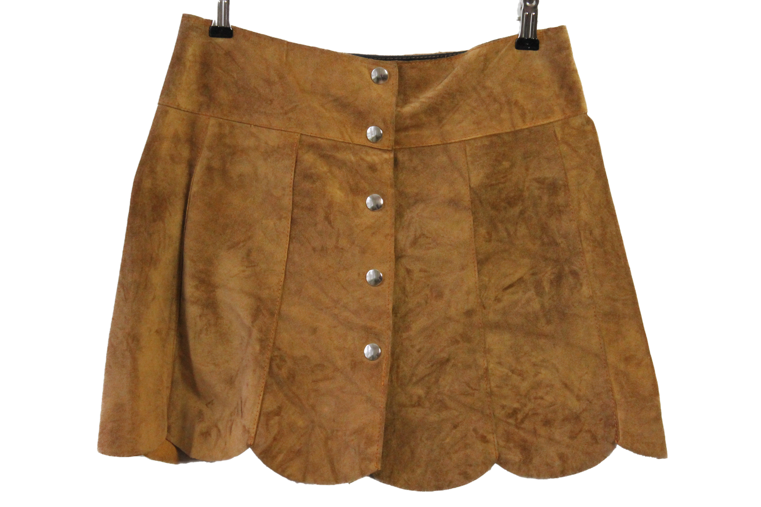 Suede A-line mini skirt size S