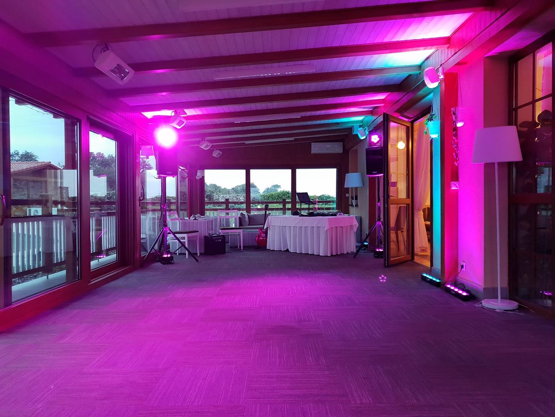 nasvetlenie osvietenie saly sala svadbajpg