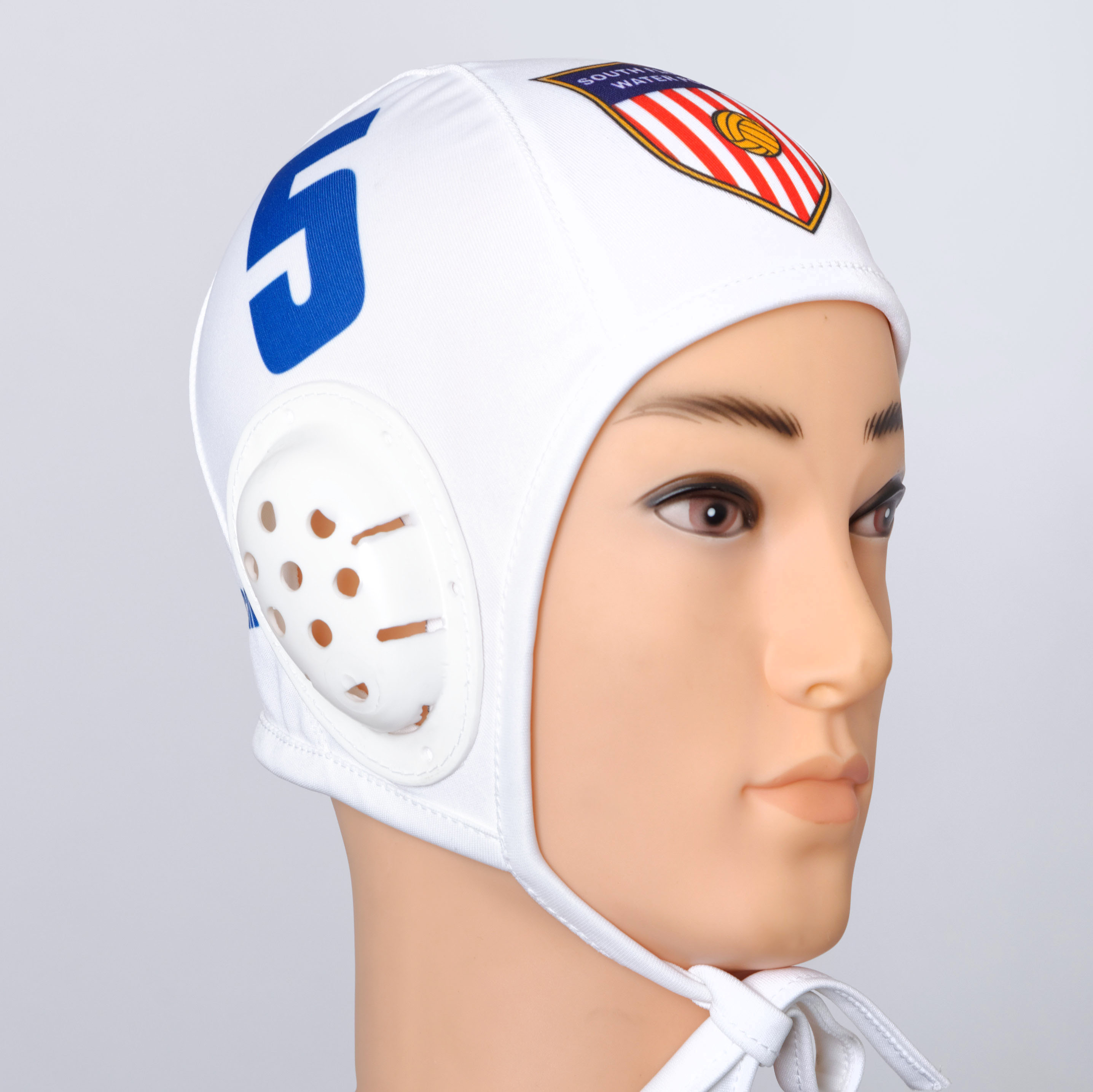 White water polo cap.