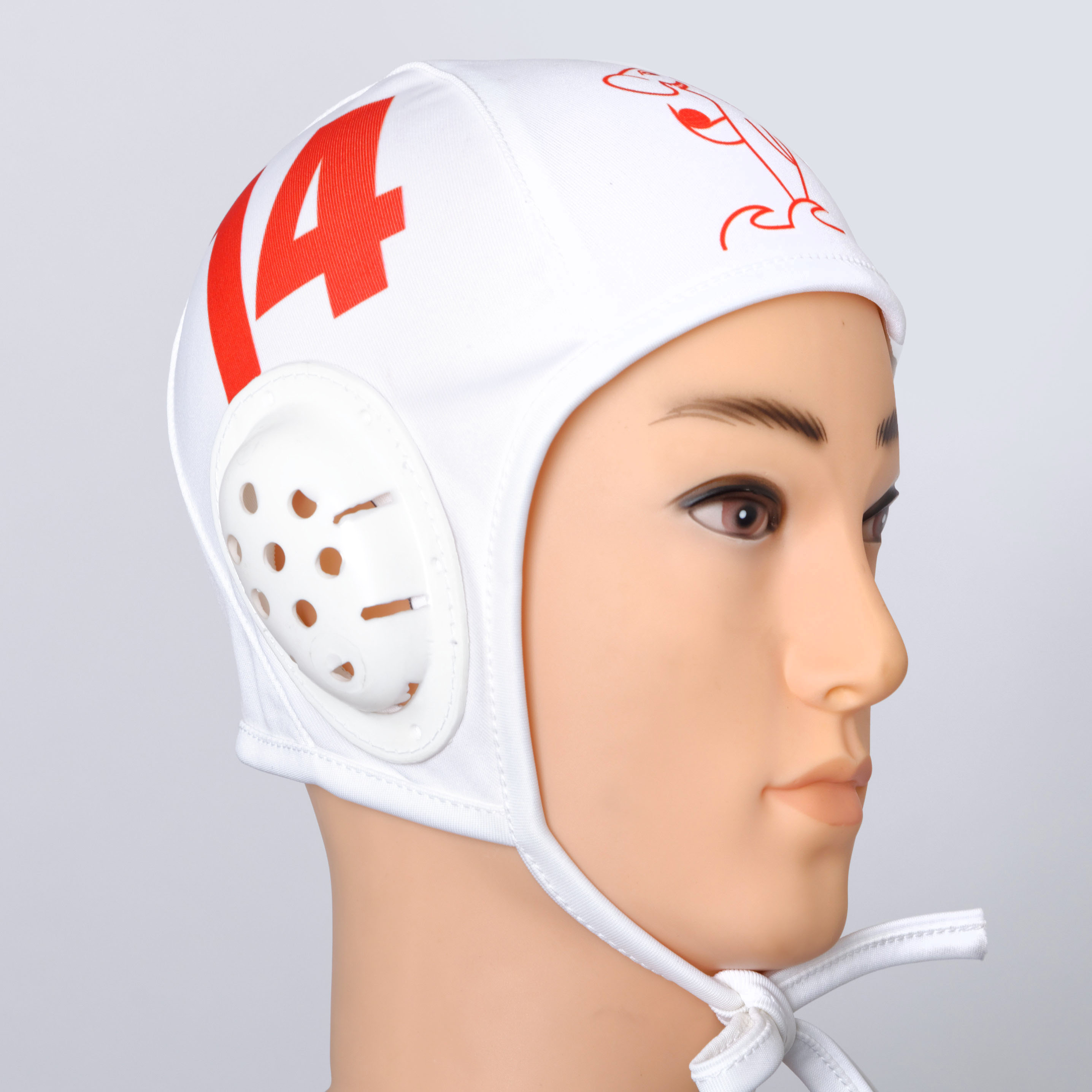 White  water polo helmet.