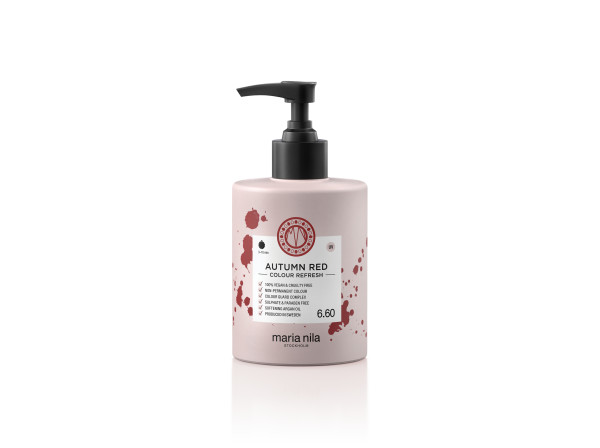 Maria Nila - farebná maska - Colour Refresh 300 ml, Autumn Red 6.60