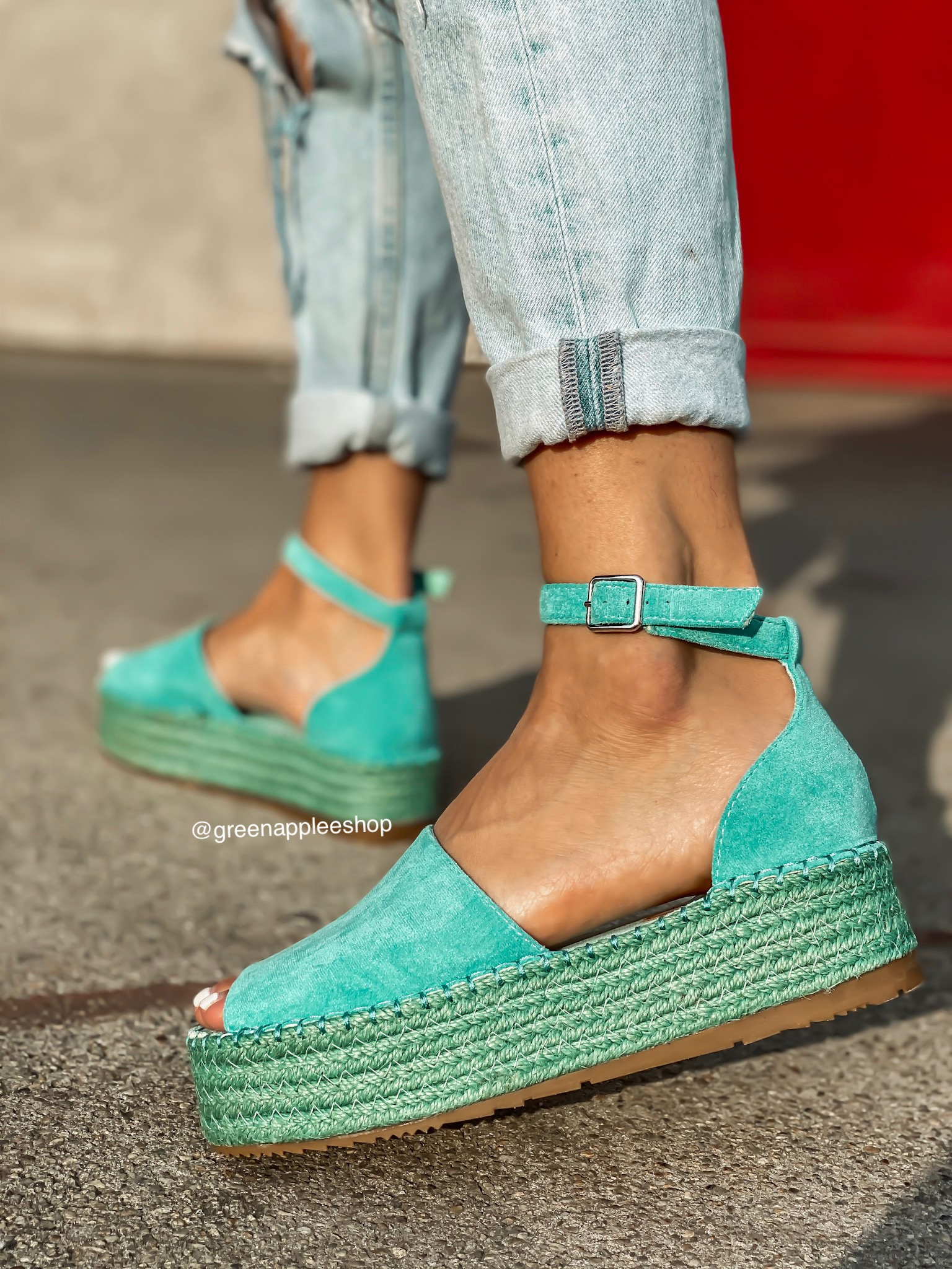 Espadrilky Helly Turquoise