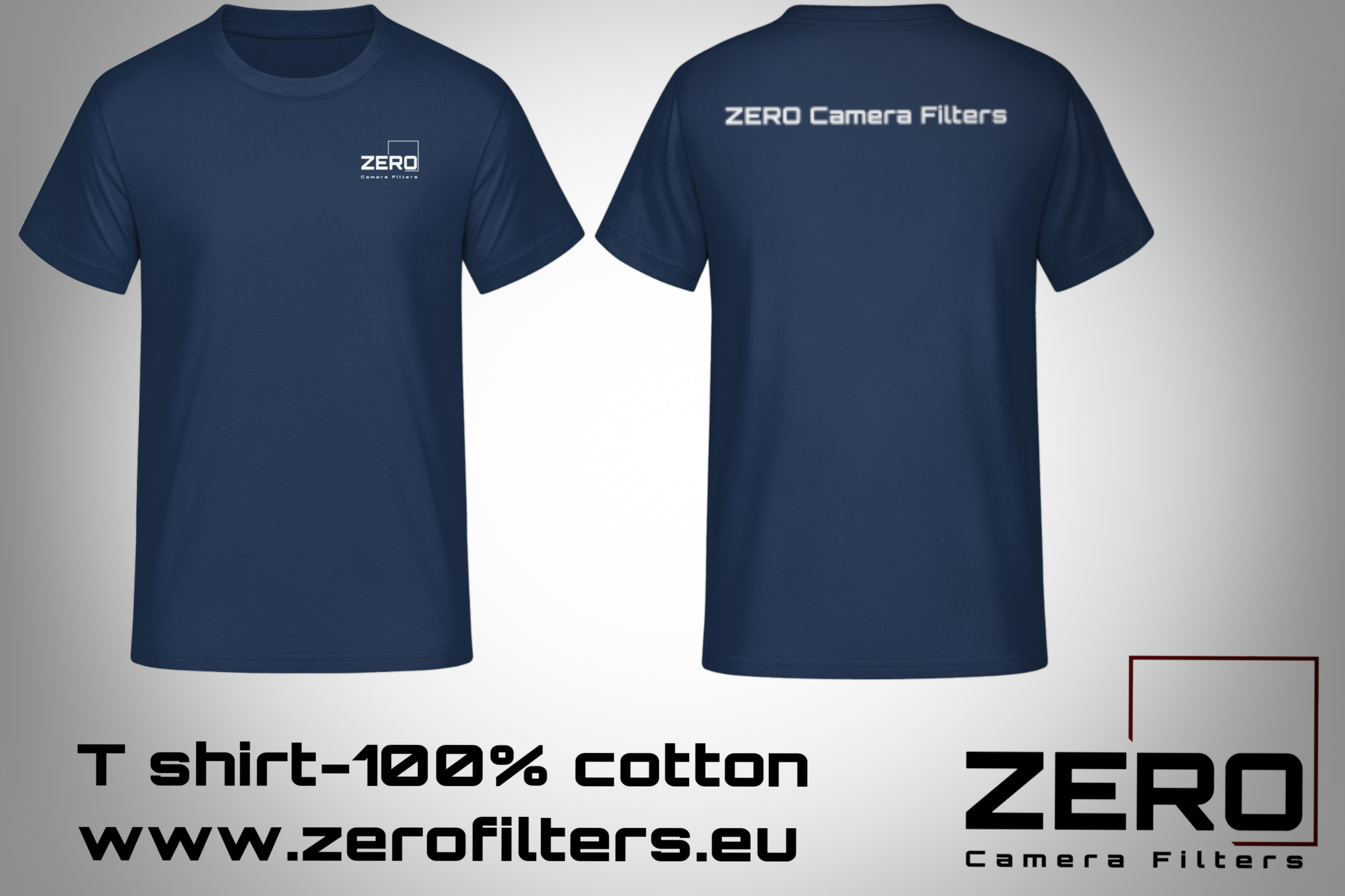 T-shirt ZERO Camera Filters - Navy Blue