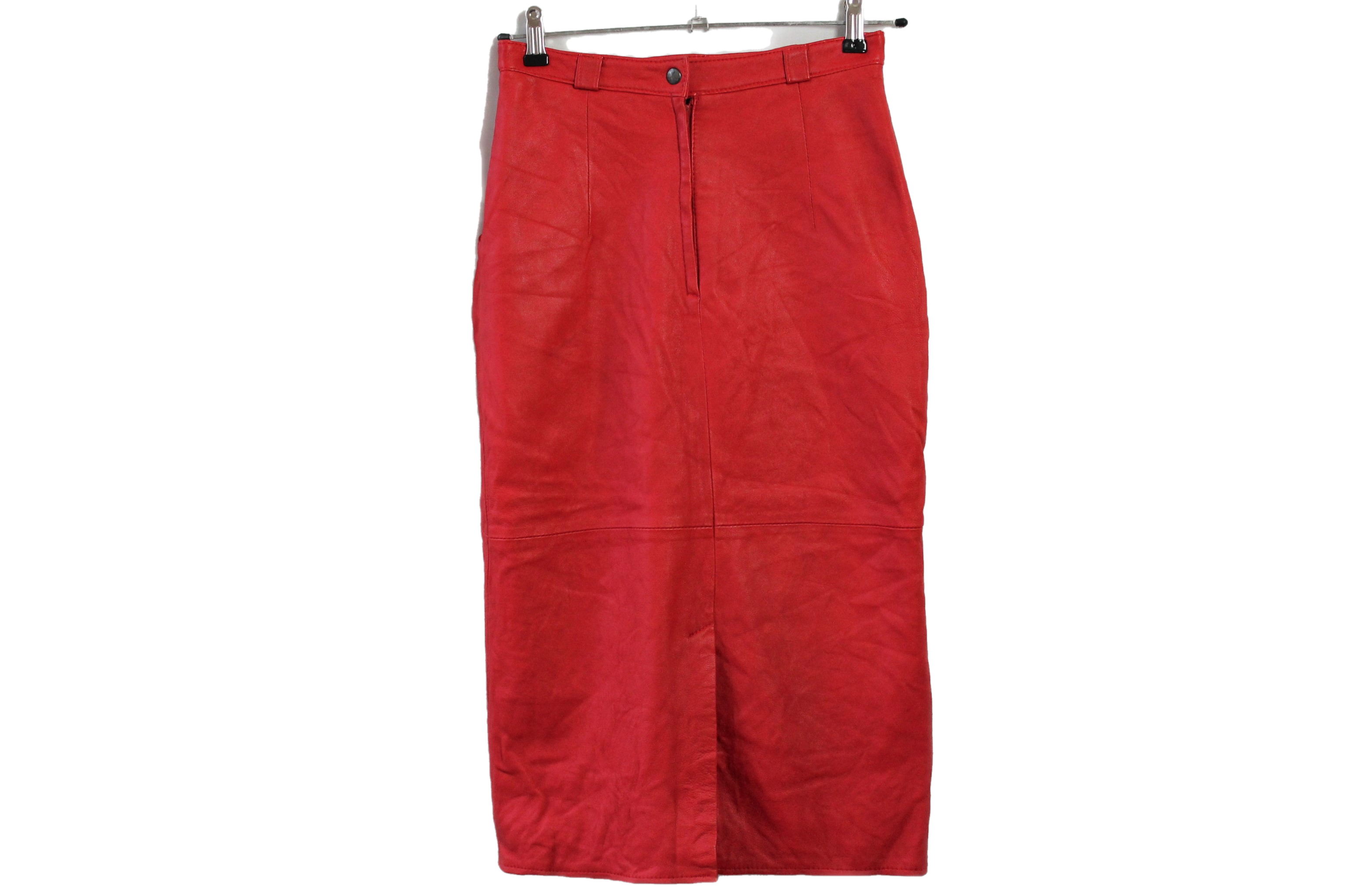 Red leather size S