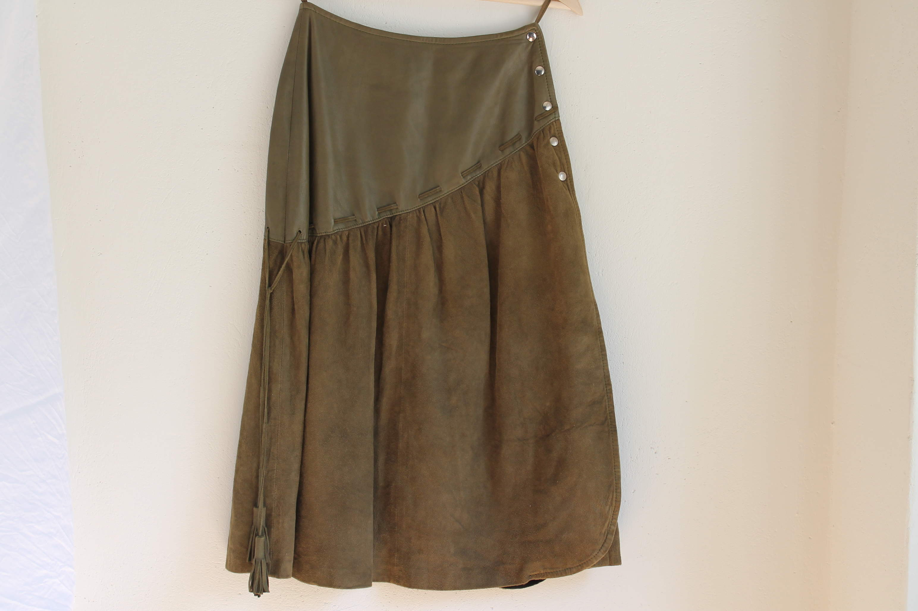 GREEN LEATHER size XS - S