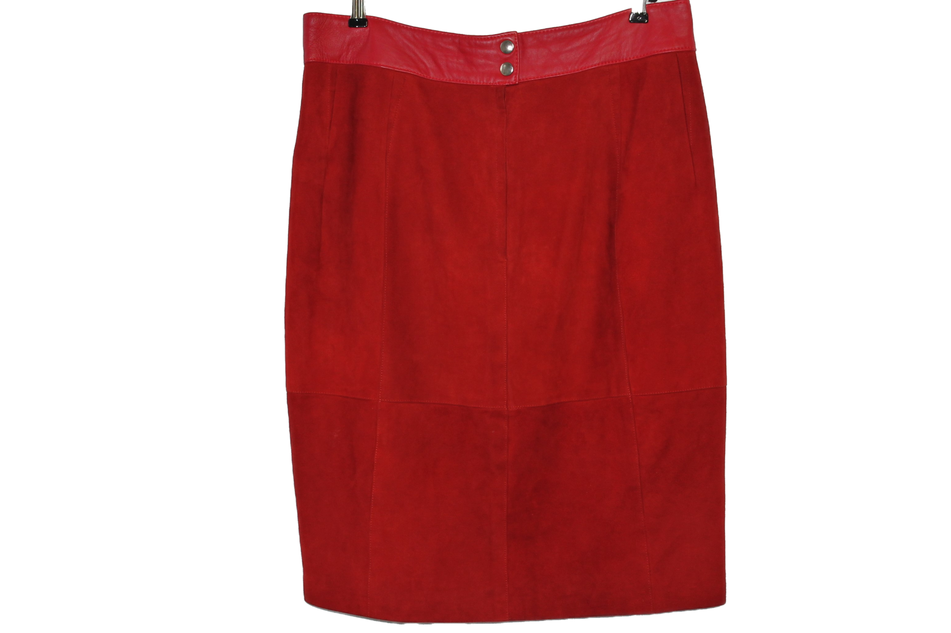 Red suede size L - XL
