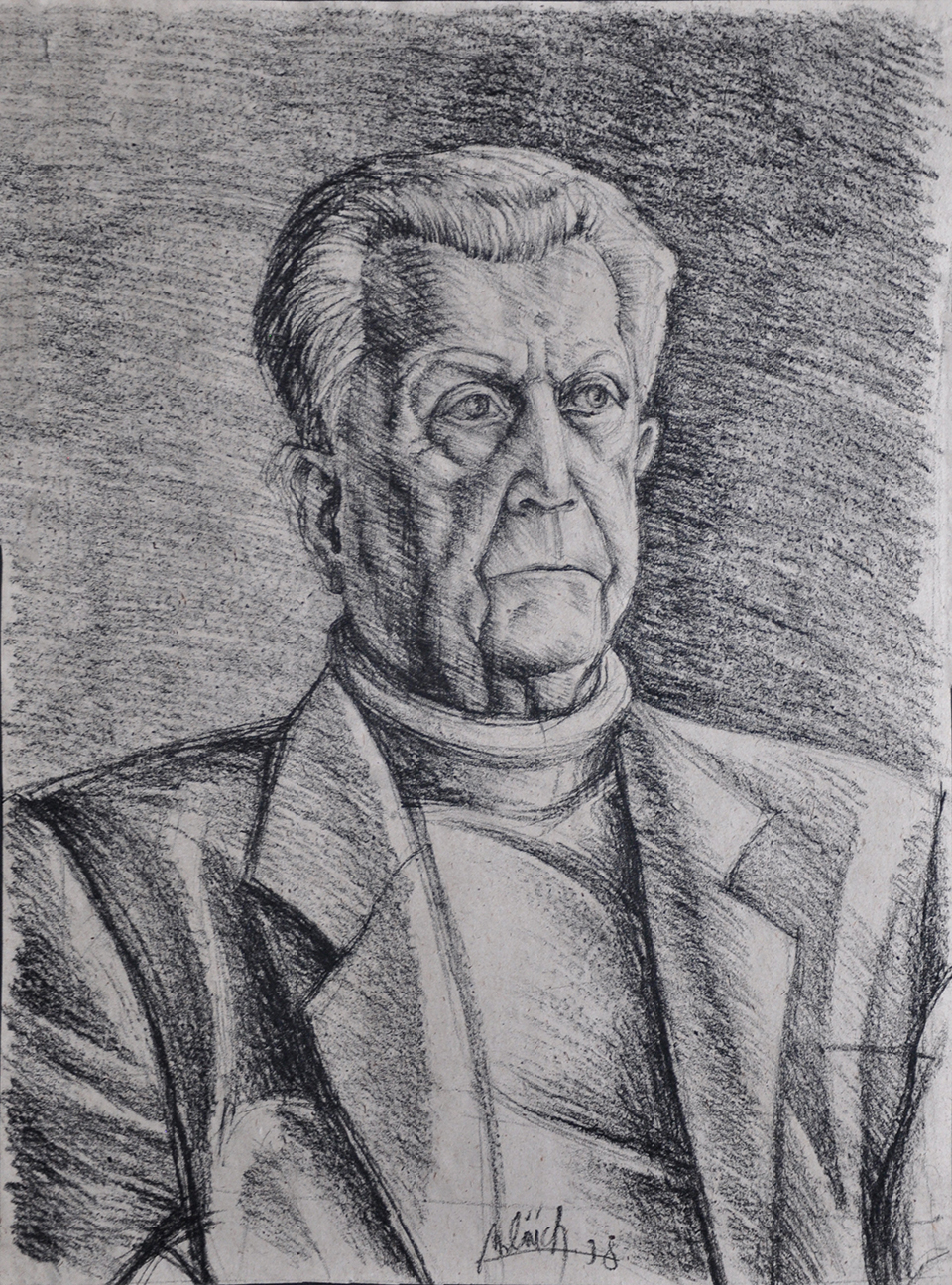 technique: charcoal dimensions: 42 x 30 cm year: 1998