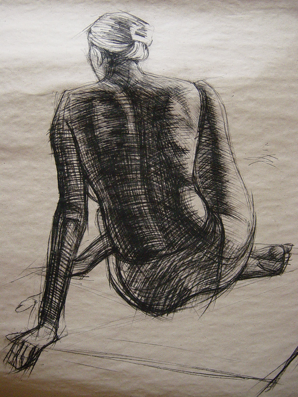 technique: charcoal dimensions: 160 x 100 cm year: 1998